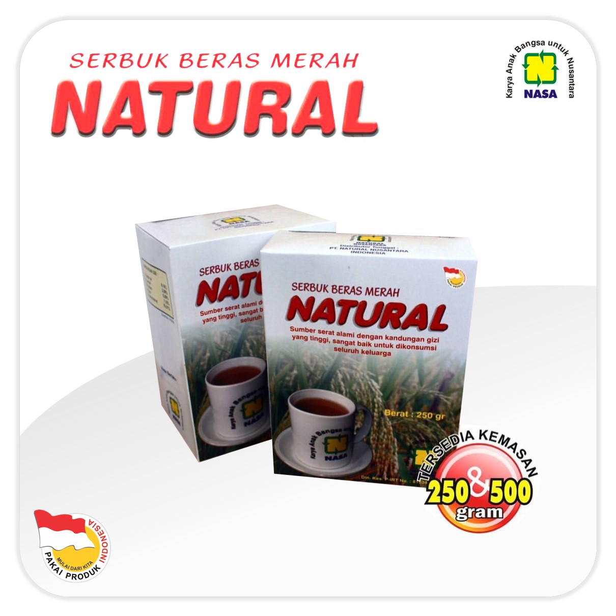 SBMN Beras Merah Natural Nasa