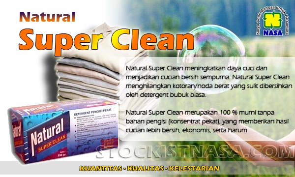 Brosur Natural Super Clean Nasa