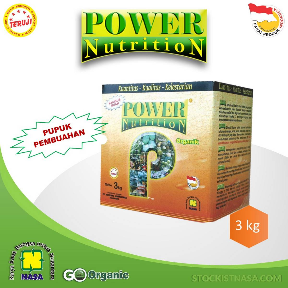 Power Nutrition Kemasan 3 Kg
