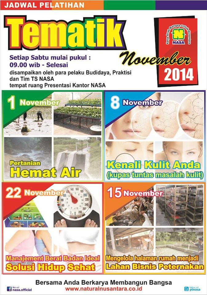 Jadwal Pelatihan Tematik November 2014