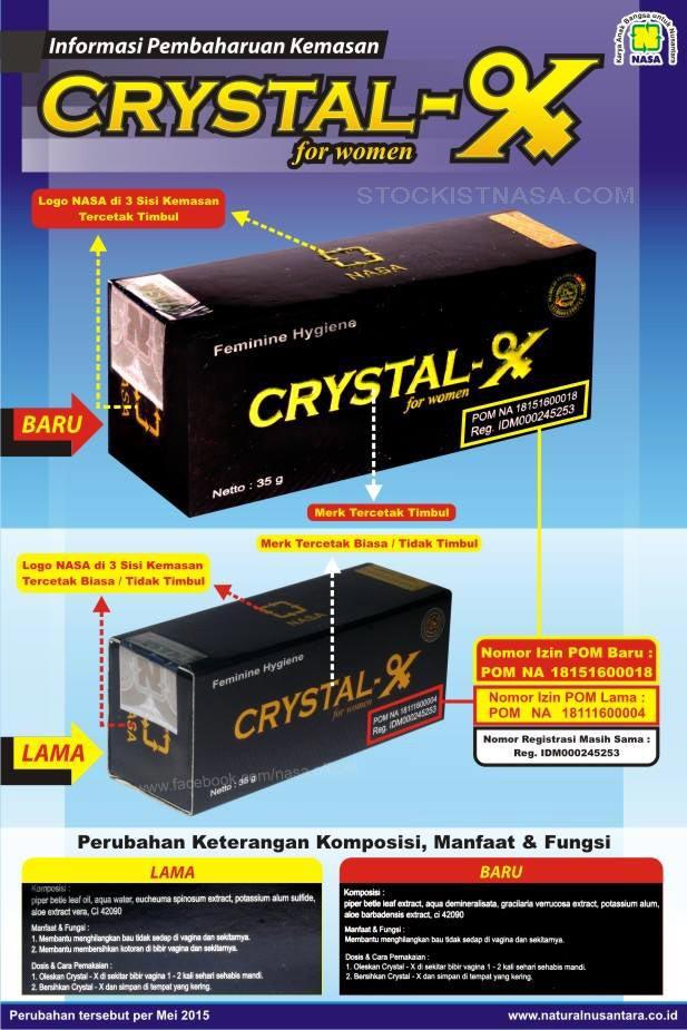 Ciri Crystal X Asli NASA Mei 2015