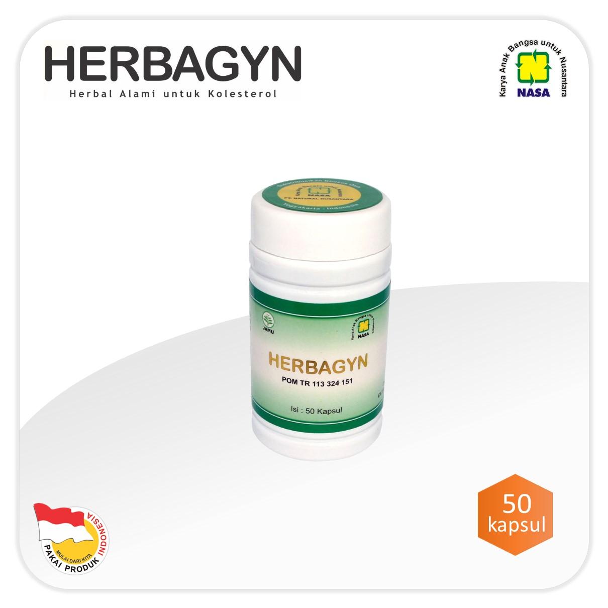 Herbagyn obat kolesterol alami