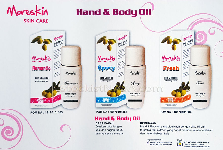 Moreskin Hand & Body Oil Series