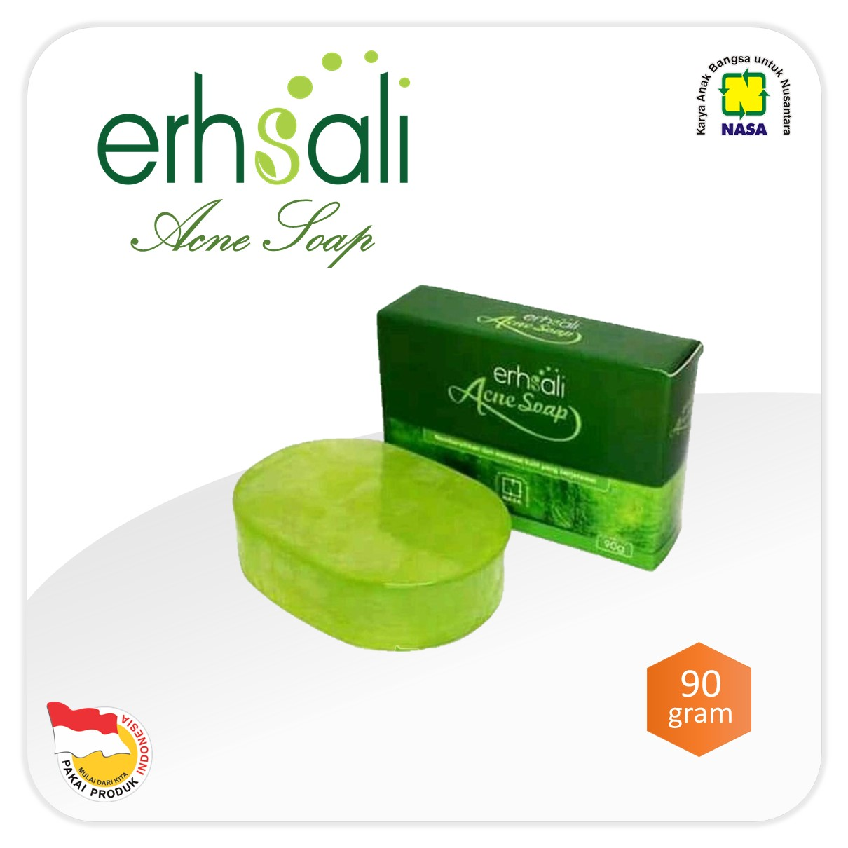 ERHSALI Anti Acne Facial Soap NASA