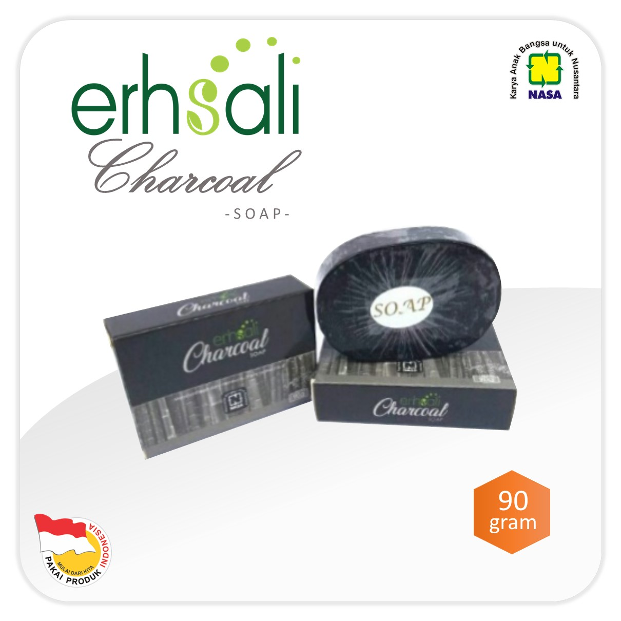 ERHSALI Charcoal Soap NASA