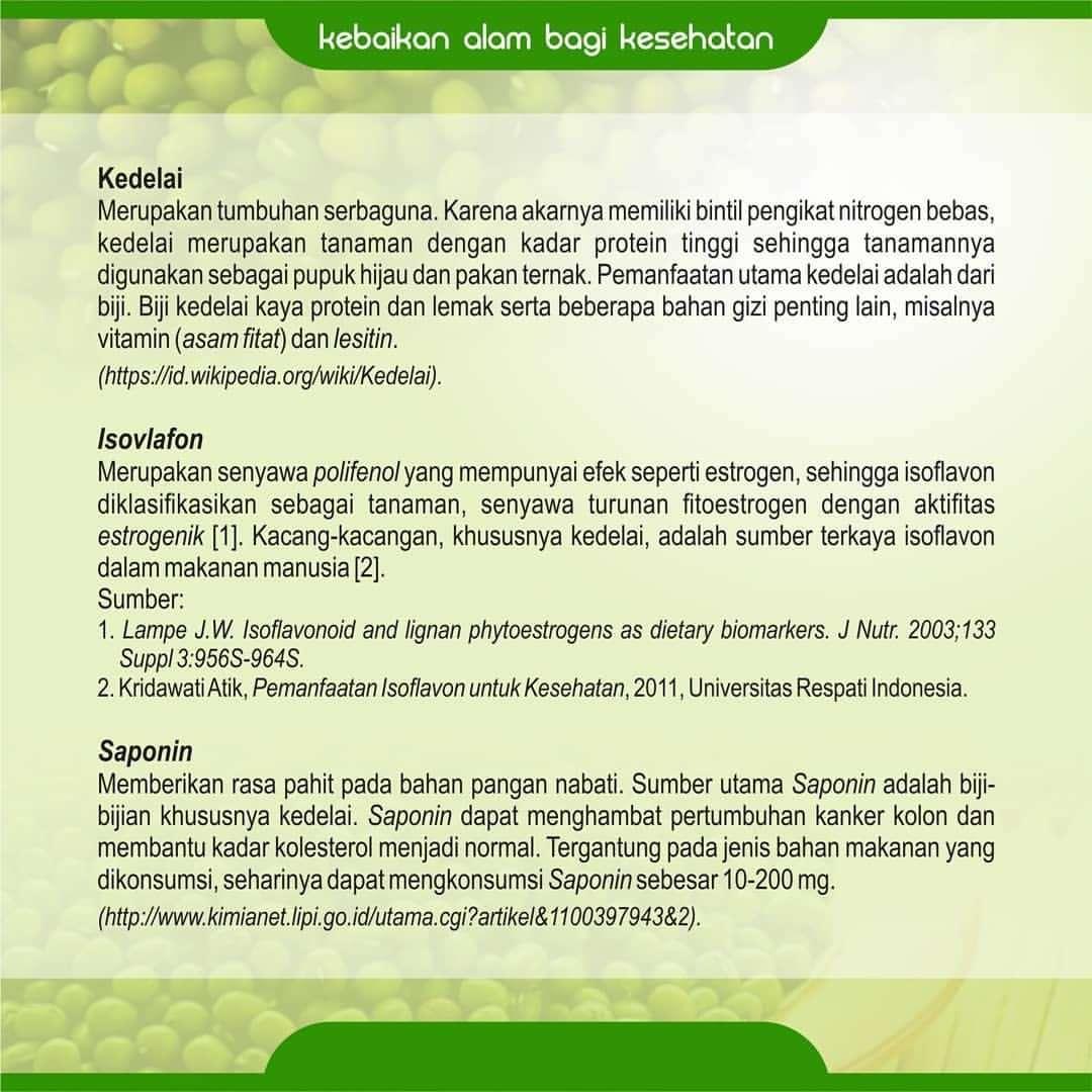 Kandungan dan Manfaat SKA-72 Serbuk Kedelai Alami Nasa