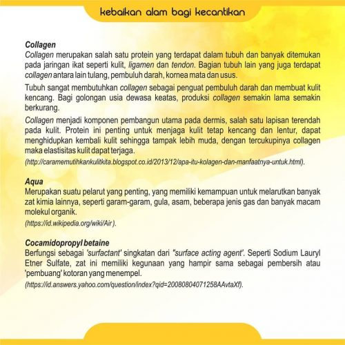 Info Collagen Facial Cleanser Nasa