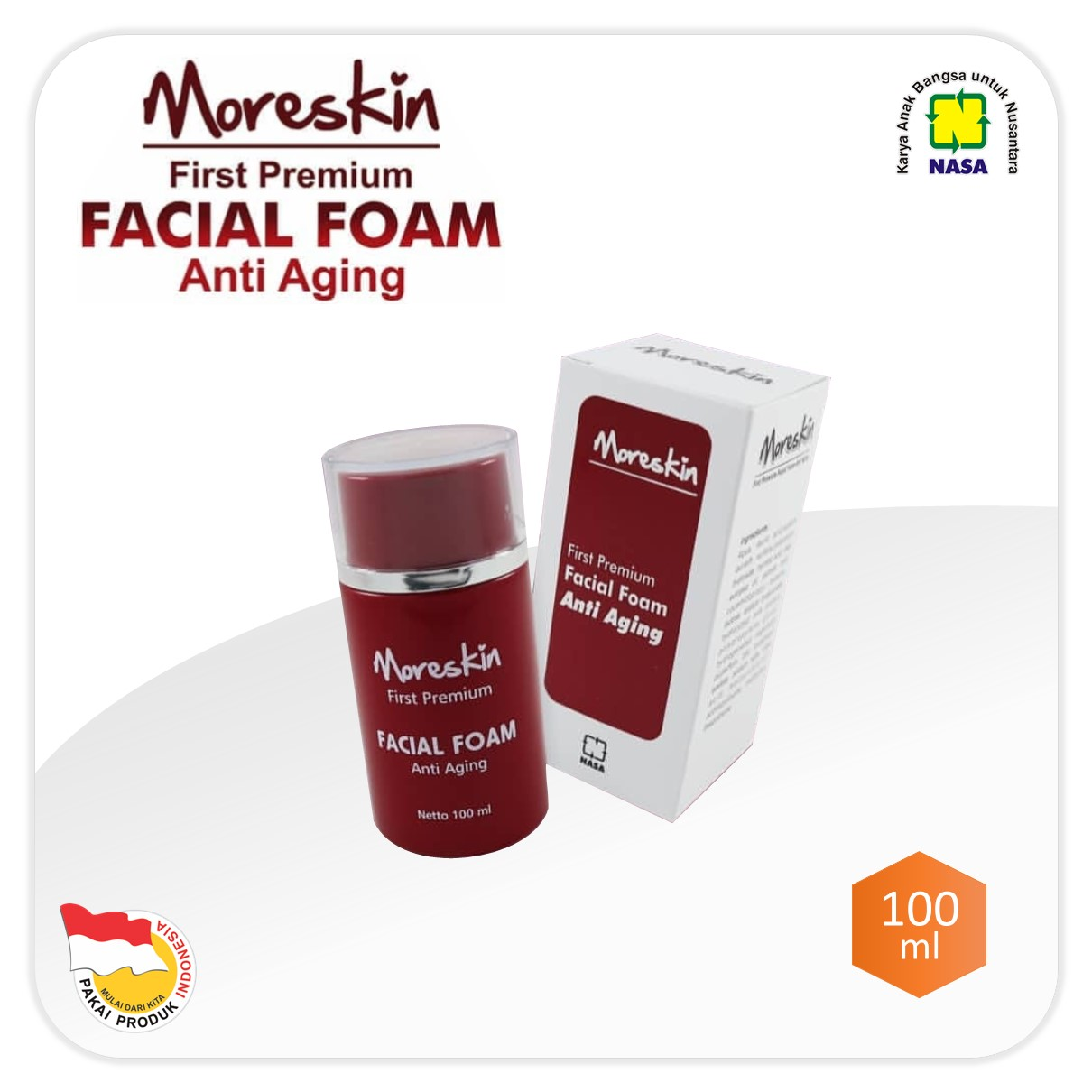 Moreskin Premium Facial Foam Anti Aging NASA