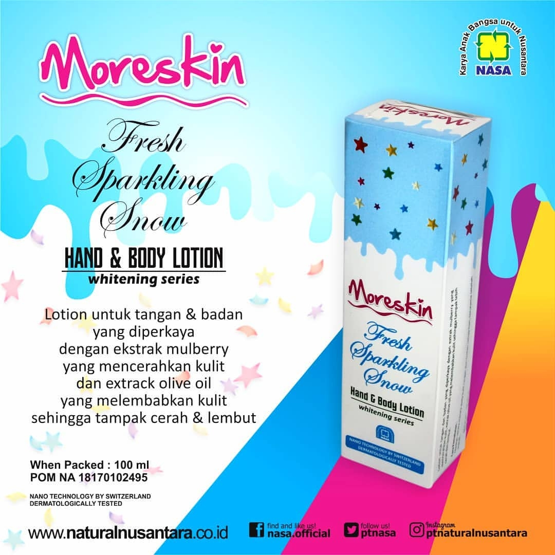 Moreskin Hand & Body Lotion Fresh Sparkling Snow