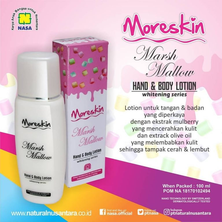 Moreskin Hand & Body Lotion Marsh Mallow