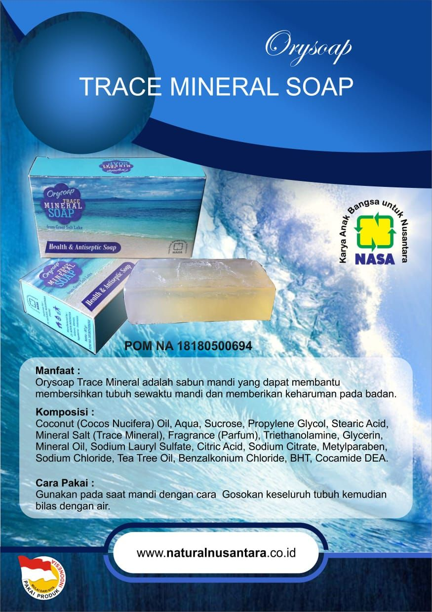 Manfaat Sabun Trace Mineral Soap NASA