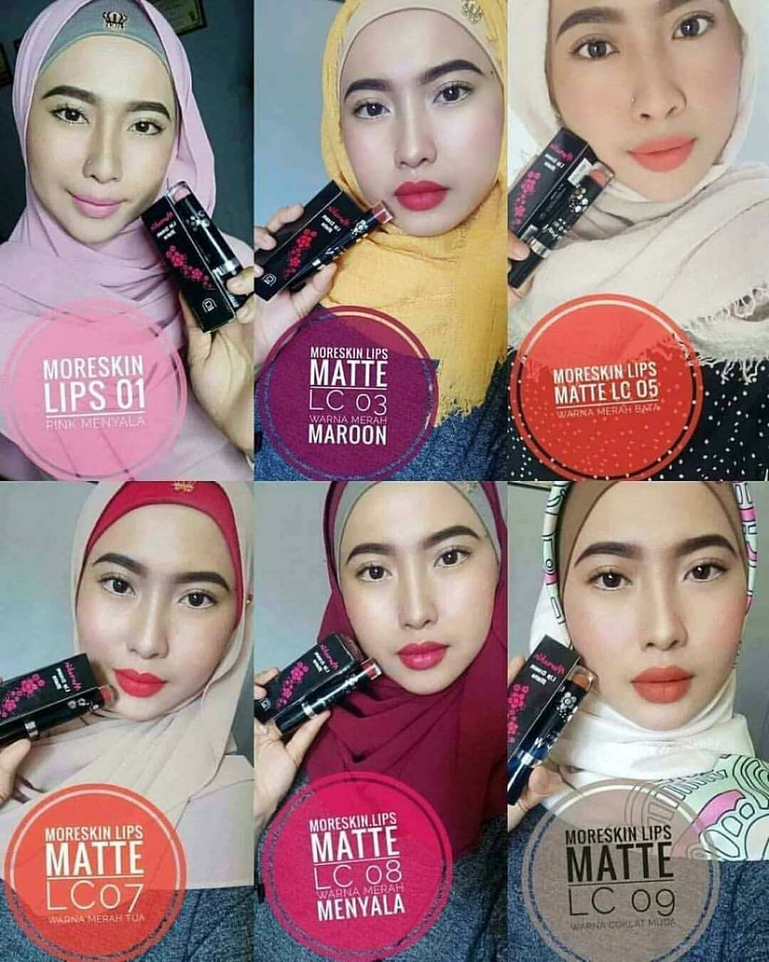 Aplikasi Warna Moreskin Lip Cream Nasa