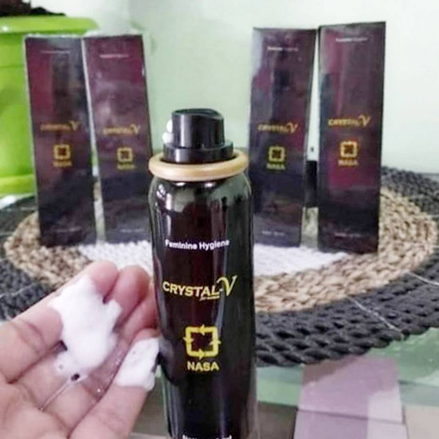 Kemasan Crystal V Spray Nasa