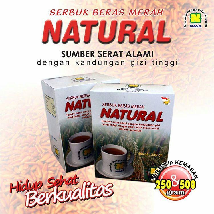 Serbuk Beras Merah Natural 1