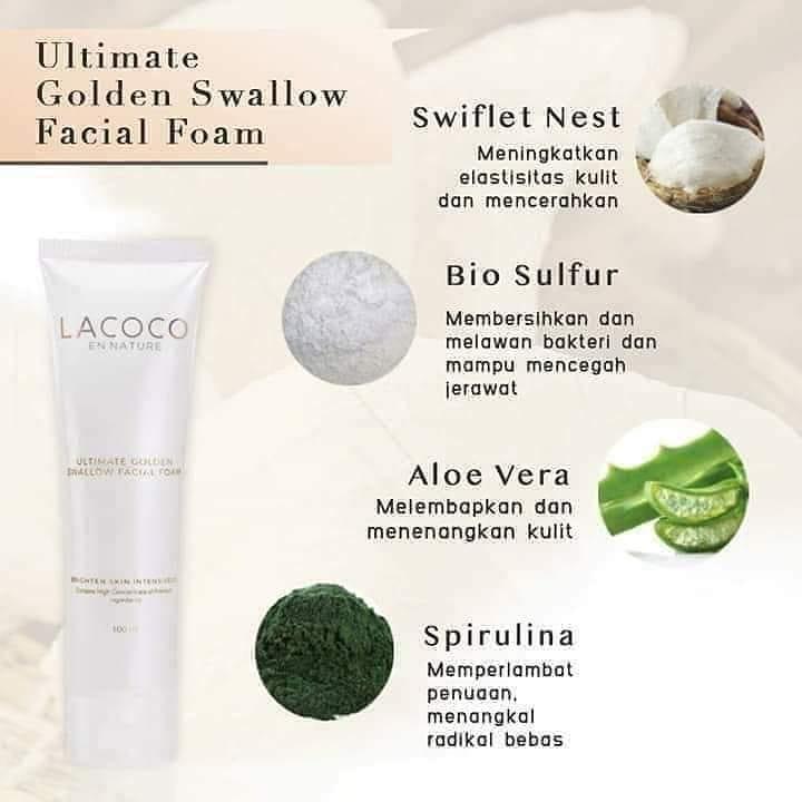 Kandungan Lacoco Facial Foam NASA