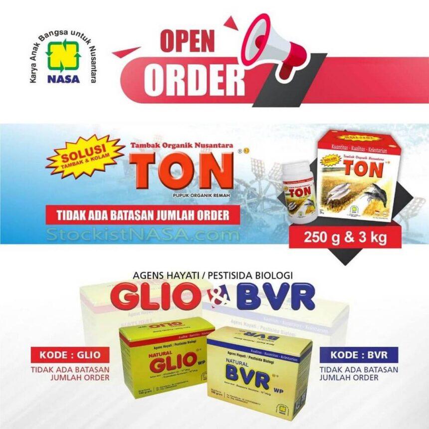 Open Order Produk TON – BVR – GLIO
